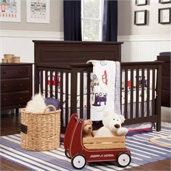DaVinci Autumn 4-in-1 Convertible Crib in Espresso with Crib Mattress