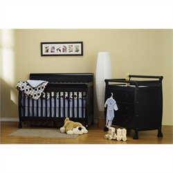 DaVinci Kalani 3-in-1 Convertible Wood Baby Crib with Toddler Rail in Ebony