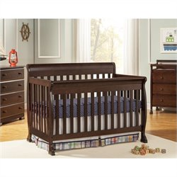 DaVinci Kalani 4-in-1 Convertible Crib in Espresso with Crib Mattress