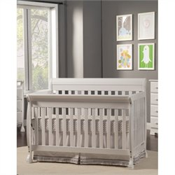 DaVinci Kalani 4-in-1 Convertible Crib in White with Crib Mattress