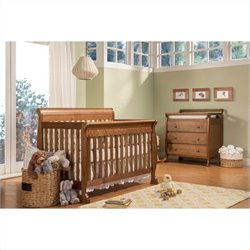 DaVinci Kalani 4-in-1 Convertible Baby Crib with Toddler Rail in Chestnut