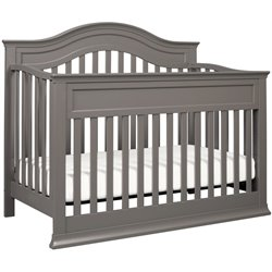 DaVinci Brook 4-in-1 Convertible Crib with Toddler Rail in Slate