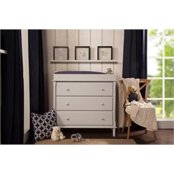 Da Vinci Jenny Lind 3 Drawer Changing Table and Dresser in Fog Gray