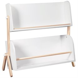Babyletto 2 Shelf Storage Bookshelf in White and Washed Natural