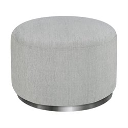 Babyletto Tuba Gliding Ottoman in Winter Gray Weave