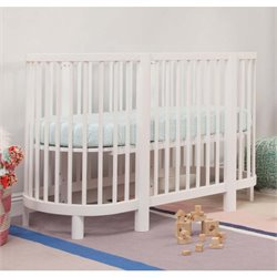 Babyletto Hula Convertible Oval Crib with Mini Pad