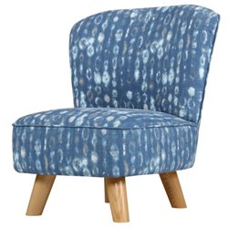 Babyletto Pop Upholstered Mini Toddler Chair in Indigo