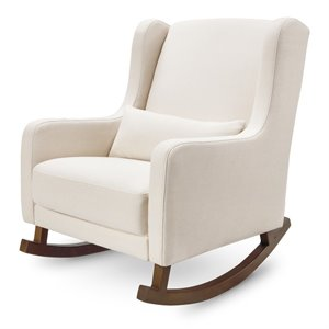 Babyletto Kai Eco Performance Fabric Wingback Rocking Chair in Natural Eco Twill