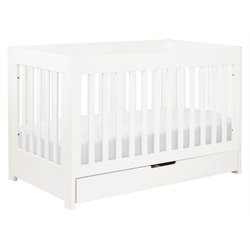 Babyletto Mercer 3-in-1 Convertible Wood Baby Crib in White