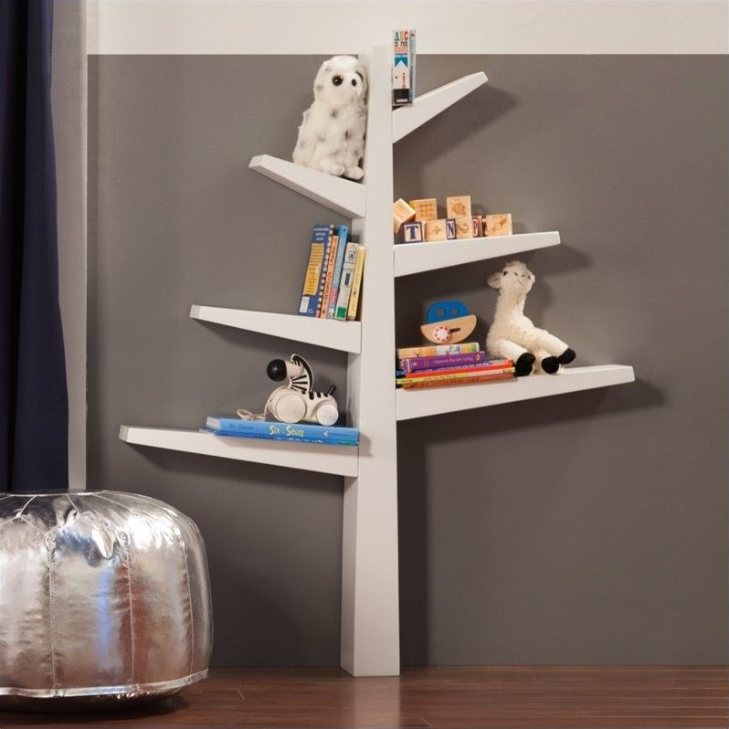 Spruce Tree Bookcase in White