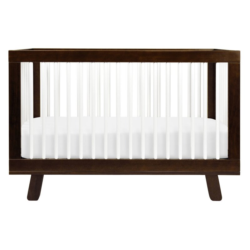 Babyletto Hudson 3-in-1 Convertible Crib in Espresso & White