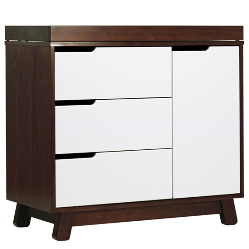 Hudson Changer Dresser in Two-Tone Espresso and White