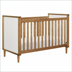 BabyLetto Skip 3 in 1 Crib in Chestnut and White Finish