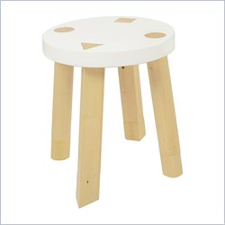 Babyletto Kaleidoscope Set of 2 Stools in White and Natural