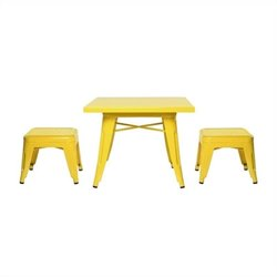 Babyletto Lemonade Playset Table and Backless Stools in Pineapple