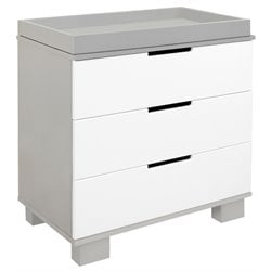 Babyletto Modo 3 Drawer Changer Dresser in White and Grey