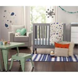 Babyletto Fleeting Flora 4-Piece Mini Crib Bedding Set