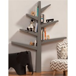 Babyletto Spruce Tree Bookcase in Gray