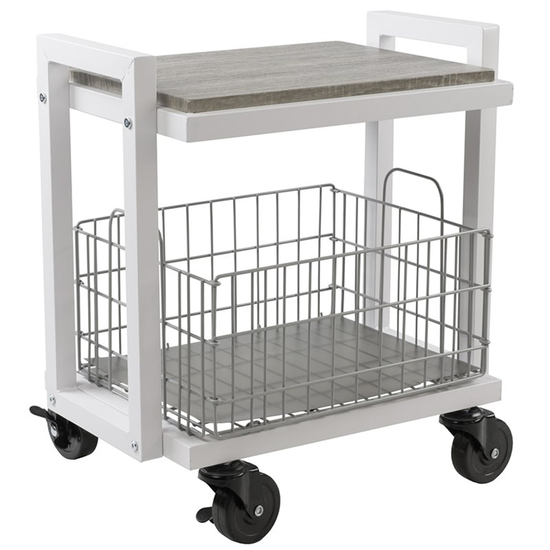 Atlantic Inc Urb Space 2 Tier Utility Cart in White