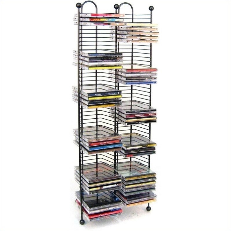 100 Nestable Cd Storage Tower In Gunmetal 63705079