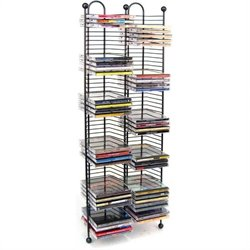 Atlantic Inc 100 Nestable CD Storage Tower in Gunmetal