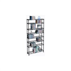 Atlantic Inc 8 Tier Adjustable Multimedia Black Steel Shelving - 440 CD 228 DVD