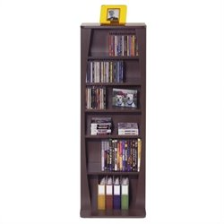 Atlantic Inc Canoe Multimedia Wood Cabinet For 231 CDs Or 115 DVDs In Espresso