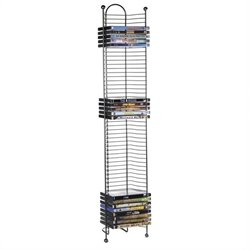 Atlantic Inc Nestable 52 DVD or Blu-Ray Tower In Gunmetal