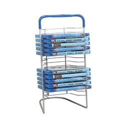 Atlantic Inc 16 Blu-Ray Nestable Tower in Silver and Blue