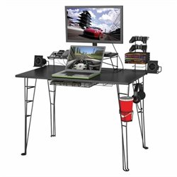 Atlantic Inc Gaming Desk In Black