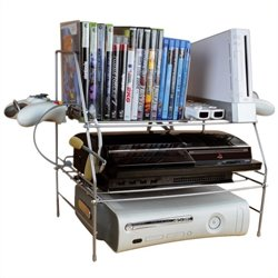 Atlantic Inc Game Depot Wire Gaming Rack in Silver