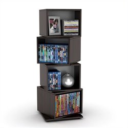 Atlantic Inc Rotating Cube 216 Disc Media Tower in Espresso