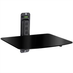 Atlantic Inc Single DVD Component Shelf for Flat Screen TV in Black