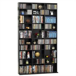 Atlantic Inc Oskar 1080 CD 504 DVD Multimedia Storage Tower in Espresso