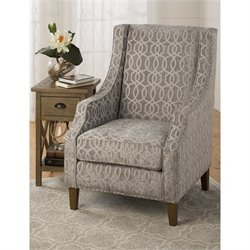 Jofran Quinn Accent Chair in Dove Gray