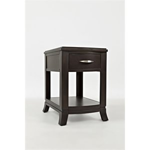 Jofran Downtown End Table in Merlot