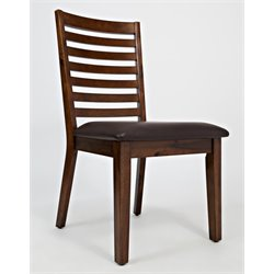 Jofran Coolidge Corner Faux Leather Dining Chair in Brown (Set of 2)