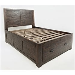 Jofran Jackson Lodge Youth Storage Panel Bed in Chocolate