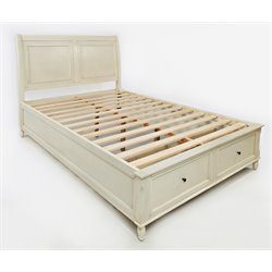Jofran Avignon Youth Storage Panel Bed in Ivory