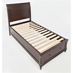 Jofran Avignon Youth Storage Panel Bed in Birch Cherry