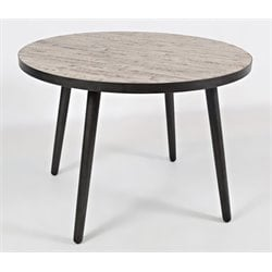 Jofran American Retrospective Round Dining Table in Gray Wash