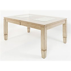 Jofran Casa Bella Extendable Dining Table in Vintage Silver