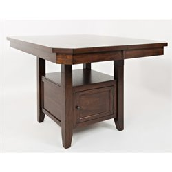 Jofran Manchester Adjustable Dining Table in Medium Brown