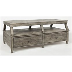 Jofran Tremblant Coffee Table in Rustic Platinum