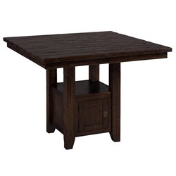 Jofran Kona Grove Square Counter Height Dining Table in Chocolate