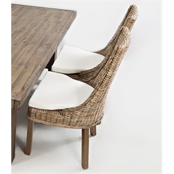 Jofran Hampton Road Rattan Dining Chair with Cushion (Set of 2)