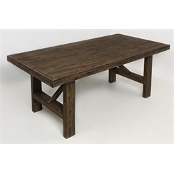 Jofran Hampton Road Trestle Dining Table in Sandblasted Gray