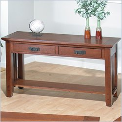 Jofran 036 Series Wood Sofa Table in Brown Mission Oak