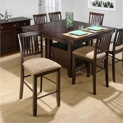 Jofran 7 Piece Counter Height Dining set in Baker's Cherry