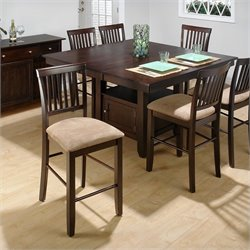 Jofran Counter Height Dining set in Baker's Cherry